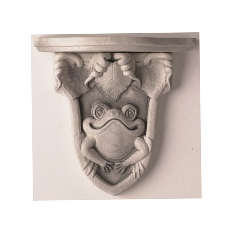 Ceramic Wall Sconces - Relief designs include Frogs and Morning Glories. Perfect for those special collectibles. Terra cotta or antique white.