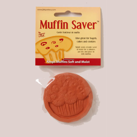 Keep your muffins, bagels, cakes, and cookies fresh with a Muffin Saver from JBK Pottery